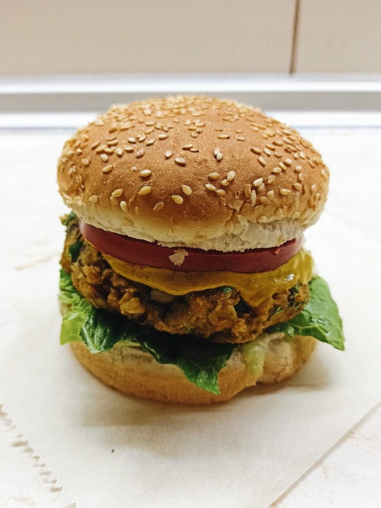 Vegan burger φασολιών